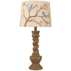 Two Birds Twisted Base Table Lamp