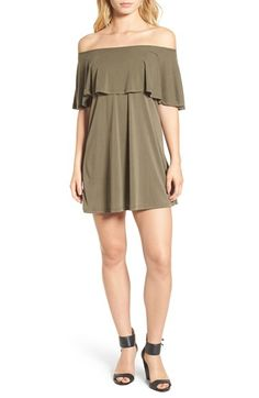 Free shipping and returns on BP. Off the Shoulder Knit Dress at Nordstrom.com. A gently rippling ruffle circles the top of this sweet shoulder-baring dress made from a soft and stretchy knit.