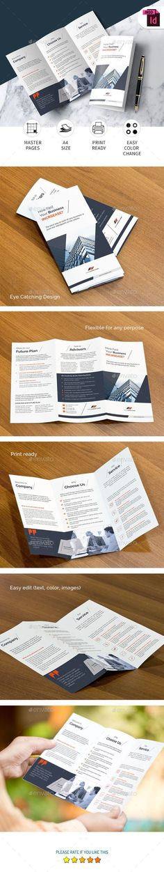 buy tri fold brochure by n_zaman on graphicriver corporate tri fold brochure this simple indesign corporate tri fold brochure template is suitable for any