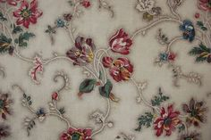 Antique Bedspread bed cover c 1820 French textile wood block printed   www.textiletrunk.com