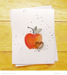 apple and heart by Aga_M at @studio_calico - stamped card