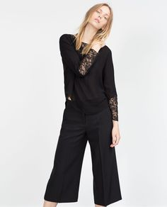 COMBINED LACE BLOUSE-View all-Tops-WOMAN   ZARA United States