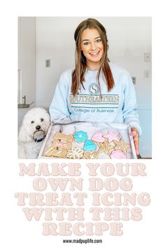Making dog treats pretty starts with a dog-friendly icing. I've always admired the boutique styled dog stores selling the cutest treats and wondered how they achieved such a consistent formula. And while I may not have it exactly right, I found an easy way for anyone to make colorful icing for their dog treats! #petparent #dog lover #diydogtreats #dogtreatrecipe #dogmom