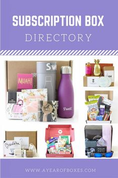 Subscription Box Directory - A complete list of ALL the subscription boxes you…