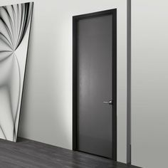 Attirant Wing Door With Frame In Nero Finish Italia Design, Door Trims,