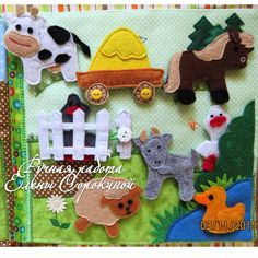 Farm animals for a quiet book.
