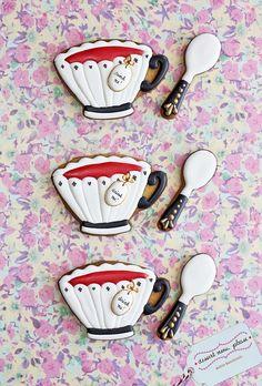 Alice in Wonderland esque Tea Cup Cookies (Dessert Menu, Please) Alice im Wunderland esque Tea Cup Cookies (Dessert-Menü, bitte) Teapot Cookies, Coffee Cookies, Iced Cookies, Cookies Et Biscuits, Sugar Cookies, Elegant Cookies, Fancy Cookies, Cute Cookies, Crazy Cookies