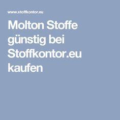 Molton Stoffe günstig bei Stoffkontor.eu kaufen