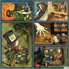 Halloween in Wonderland 12x12 Paper Pad by Graphic 45