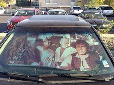 Star Wars windshield sunshade
