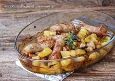 Salsiccia funghi e patate
