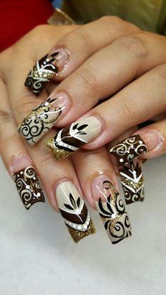 Creative Nail Designs, Beautiful Nail Designs, Beautiful Nail Art, Creative Nails, Acrylic Nail Designs, Nail Art Designs, Classy Nails, Fancy Nails, Bling Nails