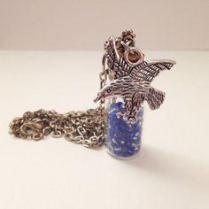 Ravenclaw House Colors Bottle / Vile Dangle Chram by MissInthia