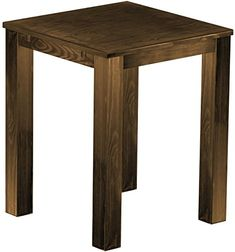 Brasilmöbel High Table 'Rio' 90AX 90ACm, Antique Pine Wood Tone Oak