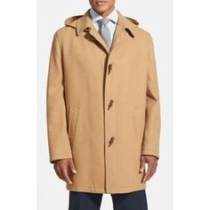 $299, Camel Duffle Coat: Cardinal of Canada Wool Blend Duffle Coat. Sold by Nordstrom. Click for more info: https://lookastic.com/men/shop_items/317340/redirect