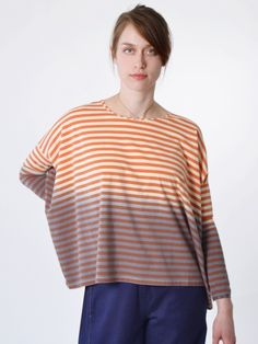 """Rich creamy colors and long sleeves. What more could you want when leaving Winter behind for Spring?  - Lunn """"Lune Top"""""""