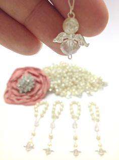 25 PC Angel perla primera comunión favorece por AVAandCOMPANY