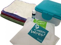 Cheeky Wipes BW-Flanell Kit *Box, 2 Wetbags, 25 Tücher