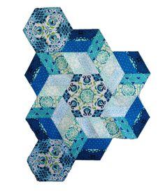The New Hexagon Millefiore Quilt-Along: Rosette #9