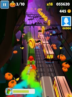 Subway surfers-Halloween version Subway Surfers, Me, Diy And Crafts, Halloween, Travel, Cook, Log Projects, Recipes, Stuff Stuff