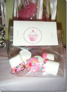 Pinkalicious Party- Pink Chocolate & Marshmallow Treat Bags :)  HUGE hit!!