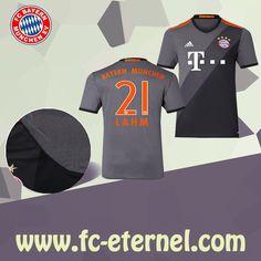 fc-eternel:Maillot Bayern Munich LAHM 21 Exterieur 2016/2017 Flocage Maillot Bayern Munich, Lewandowski, Football, Sports, Flocking, Baby Born, Woman, Soccer, Hs Sports