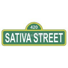 Sativa Street #stickers #tshirts #mmj #marijuana #clothing #weed