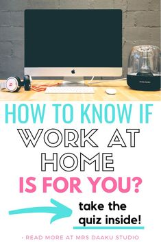 Work from home for beginners - Are you planning to work from home? Take the personality quiz inside and learn if you are made for remote working. #sidehustle #workfromhomejobs #stayathomemomjobs
