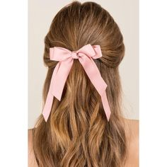 Connie Bow Hair Tie - Blush (12 PAB) ❤ liked on Polyvore featuring accessories, hair accessories, hair, bow, hair styles, blush, pink hair accessories, ponytail hair ties, elastic hair ties and bow hair accessories