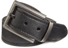 Columbia Men's 38MM Flat Laminate Reversible Belt With Stitch, Black/Brown, 34 Columbia. $19.99. Hand Wash. Heavy Stitching on Side. Made in China. 100% Genuine Leather. Columbia Logo on Base of Buckle. Save 29%!