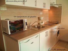 T2, splendide vue mer, parking, piscine: Cuisine (lave-vaisselle, lave-linge séchant) - France-Voyage.com