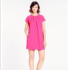 Adorable Kate spade dress kate spade new york crepe dress. Crew pleated neckline; button keyhole back detail. Cap sleeves. Pleated front. On-seam pockets. A-line silhouette. Polyester; self lining. Imported. kate spade Dresses Mini