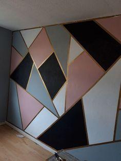 Cute Bedroom Ideas, Cute Room Decor, Room Ideas Bedroom, Bedroom Decor, Ikea Girls Bedroom, Wall Decor, Room Wall Painting, Room Paint, Tape Painting