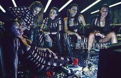 Hilary Blonde: Top models comen hamburgesas y juegan a videojuegos en la última campaña de Balmain Primavera 2015