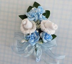 Baby Boy Sock Corsage for Mother-to-Be