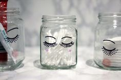 Add some little lashes to your jars so they can be as pretty as you are.