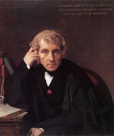 Luigi Cherubini. 1841: Jean Auguste Dominique INGRES, obras, cuadros, pinturas