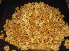 http://fashionpin1.blogspot.com - Microwave Carmel Corn !!!!!!!!  Easy and Yummy!!    2 bags popped pop corn .Place in a paper grocery bag. I sift out the seeds first.  1 cup brown sugar, 1/2 cup butter, 1/4 cup kayro syrup, 1/2 tsp salt.  Bring to a boil for a minute or so then add 1/2 tsp baking soda and stir.  It will become foamy.  Pour over popcorn and shake bag well.    Then microwave 1 minute then shake, microwave 1 minute then shake, microwave 30 secs then shake, then 30 secs and…