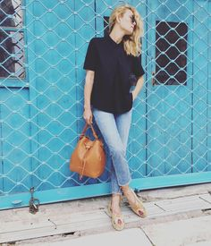 """8,015 Likes, 27 Comments - @vickykaya_ on Instagram: """"Le grand Blue! #blue #chic #downtown #athens #motivafashion #trussardi #tuesday #ootd 🦋💙🌊"""""""