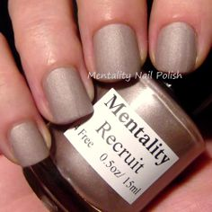 Mentality Nail Polish - Recruit, a light tan from The Brown Mattes collection.