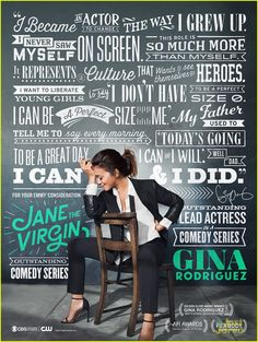 Gina Rodriguez's 'I Can & I Will' Words Feed 'Jane The Virgin' Emmy Campaign | gina rodriguez emmy campaign jane virgin poster 01 - Photo