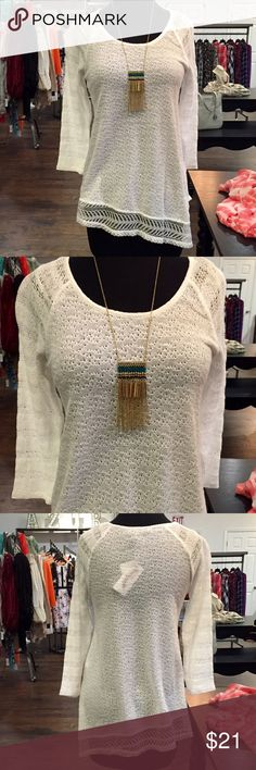 """🆕NEW ITEM! Jessica Simpson Top ONLY $21! NWT Jessica Simpson Top • Size S • RT $49 • 62% Cotton 38% Polyester • Ships same or next day • bust 16"""" length 26"""" Jessica Simpson Tops Blouses"""