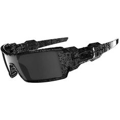 3bd0eeec3ef0a Oakley Oil Rig Sunglasses Black With Ghost Text Black Iridium Sunglasses  Outlet, Mens Sunglasses