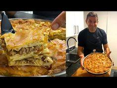 Placinta TURCEASCA cu carne tocata 💚 SU BÖREK - YouTube Croation Recipes, Lasagna, Food Videos, French Toast, Cooking, Breakfast, Ethnic Recipes, Youtube, Ground Meat