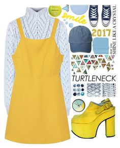 """""""Be Fearless"""" by lseed87 ❤ liked on Polyvore featuring Altuzarra, MANGO, WALL, Converse, Deborah Lippmann, Sephora Collection, Topshop, Stay Home Club, yellow and Blue"""
