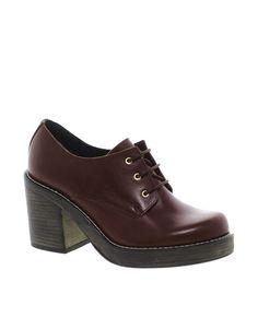 ASOS PREMIUM SCHOOL DAY Leather Mid Heels