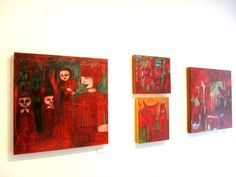 Red paintings by Cathie Joy Young