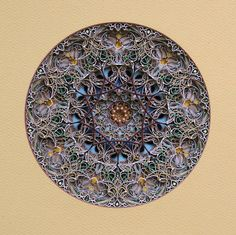 Intricately Cut Paper Sculptures Mimic Stained Glass Windows