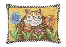 Fat Cat Hook Throw Pillow #StatementMade #Cats