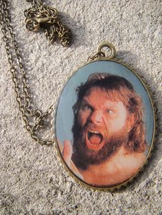 Hacksaw Jim Duggan Wrestling Necklace oversized by dottythedemon, $28.00